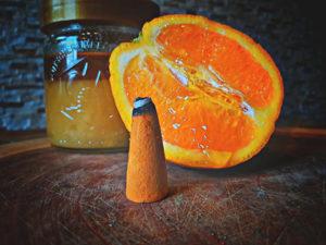 5 Stück Riesenräucherkegel Honig-Orange